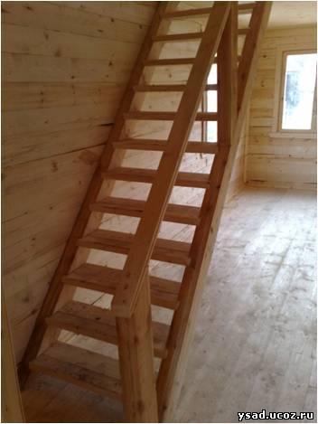 Лестница в доме своими руками из доски